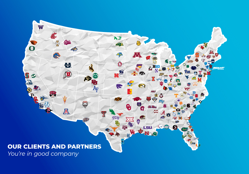 Map of clients and partners